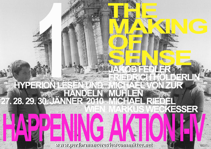 The Making Of Sense Aktion 1 / performancereviewcommittee
